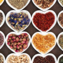 Herbs in Heart Bowls